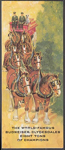 The World-Famous Budweiser Beer Clydesdales folder 1971