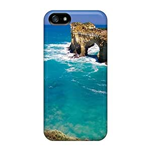 For MeSusges Iphone Protective Case, High Quality For Iphone 5/5s Amazing Beach Skin Case Cover