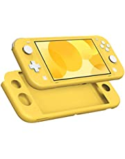 MoKo Protective Case Compatible with Switch Lite, Soft Silicone Cover Rubber Anti-Scratch Shockproof Shell Case Accessories for Switch Lite Console and Controller - Yellow