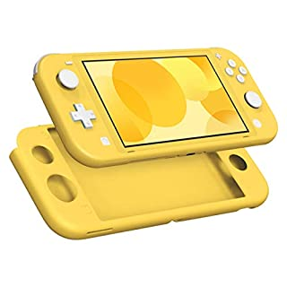 MoKo Case for Nintendo Switch Lite, Silicone Protective Rubber Cover, Shock-Absorption Anti-Scratch Non-Slip Case for Nintendo Switch Lite Console - Yellow
