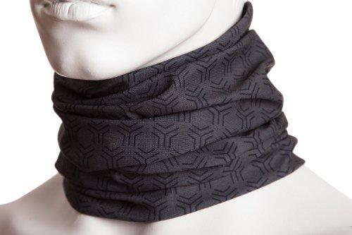 Hilltop Multifunktionstuch - Kopftuch/Motorrad, Halstuch, Bandana viele Farben, Farbe/Design:grau schwarz