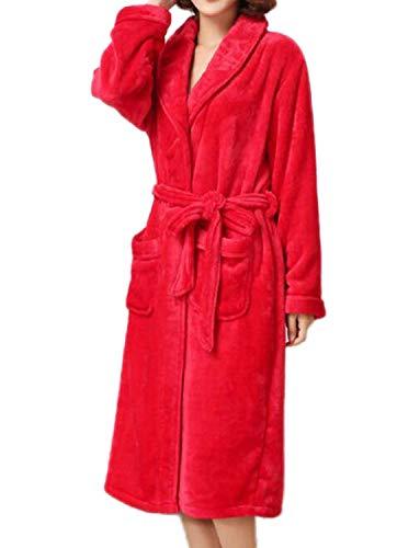 Mode Cardigan Albornoz Pink2 Bata Bañarse Hogar Marca Servicio Franela El Pijama Hombres En De Engrosamiento Invierno Para Camisón 6qxwTHvIfv