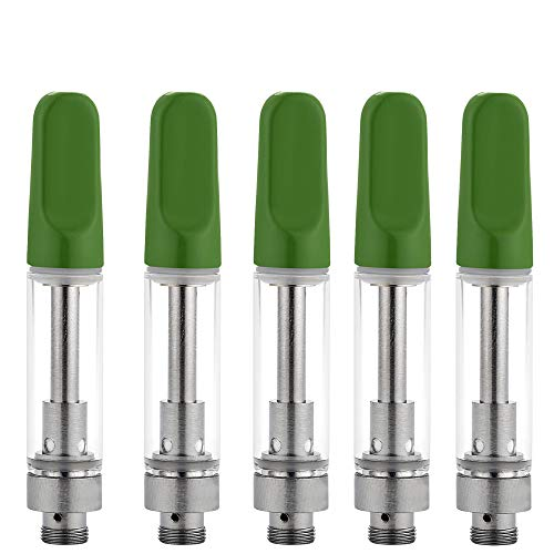 (5 Pack Ceramic Wickless Cell Cartridge Acessaries for C-C-E-L-L (Green))