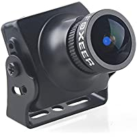 Thriverline FPV Camera Foxeer Arrow V3 600TVL CCD NTSC IR Block 2.5mm Lens HAD II Built-in OSD MIC for FPV Racing Drone like QAV210 etc Black