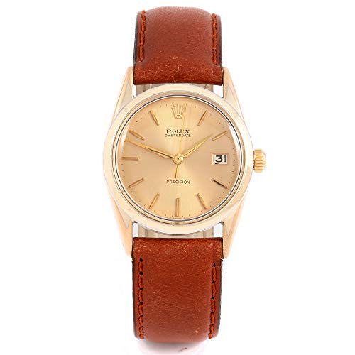 Rolex 6694 Men's 34mm Oysterdate Model - Champagne Dial - Leather Band (Certified Pre-Owned) ()
