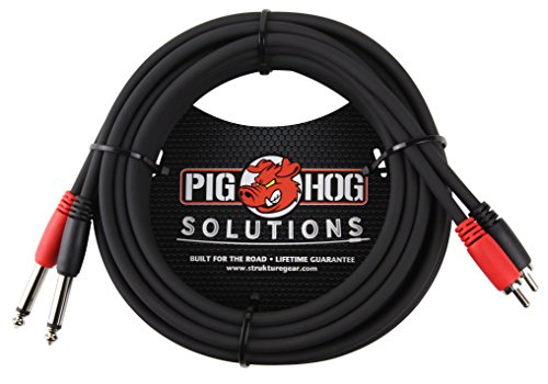 Pig Hog PD-R1415 Dual RCA (Male) to Dual 1/4