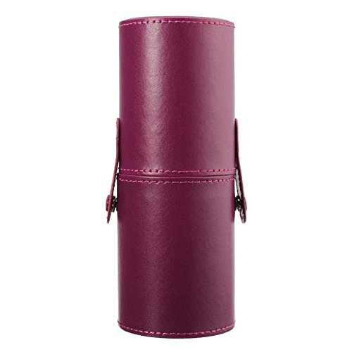 Travel Leather Cosmetic Brush Pen Holder (Purple) - 8