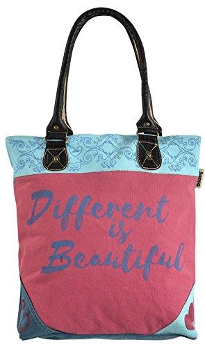 Bolso de compra señora Sunsa Canvas Bolso de hombro bolso de mano hecho de tela / tela con cuero