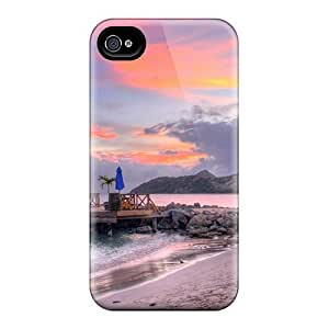 Iphone 4/4s Case Cover Wonderful Pier On Beach Hdr Case - Eco-friendly Packaging hjbrhga1544