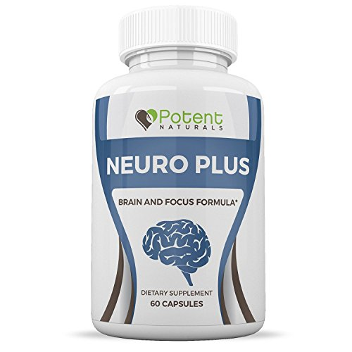 Neuro Plus Brain Supplement :: Supports Brain Health and Focus :: Promotes Memory and Clarity :: Contains Vitamins, Amino Acids, and Natural Ingredients :: 60 Capsules Per Bottle :: Potent Naturals by Potent Naturals
