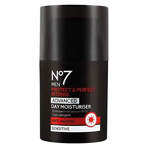 NO7 MEN'S PROTECT & PERFECT INTENSE ADVANCED MOISTURISER SPF 30 1.69 FL. OZ (Best Mens Face Moisturiser With Spf)
