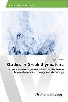 Book Studies in Greek thymiateria