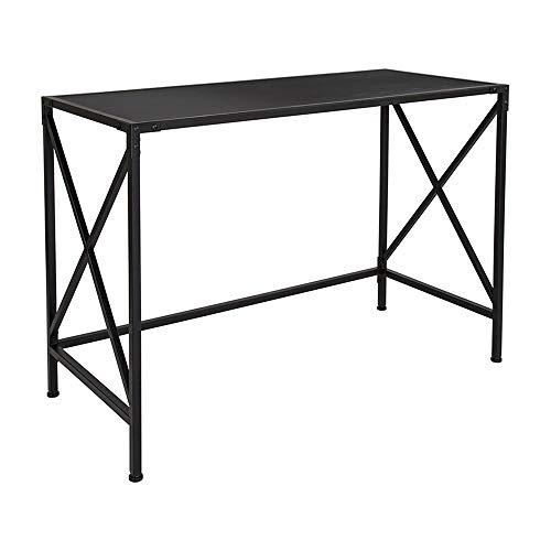 (Offex Rectangular Computer Desk in Dark Ash Laminate Finish)