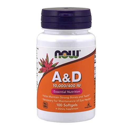 NOW Vitamin A & D 10,000/400 IU,100 Softgels