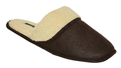 Pantofole Da Stanza Da Bagno Mens Steiger Scuff (m (8-9), Marrone)