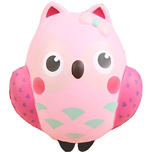 Squishies Owl Stress Relief Toy Stress Reliever Squishy Slow Rising Owl Fruits Kawai Hamster Girl Bread Kawaii Hand Exerciser Fidget Toy Great Gift for Girlfriend Children Birthday Gift Present.