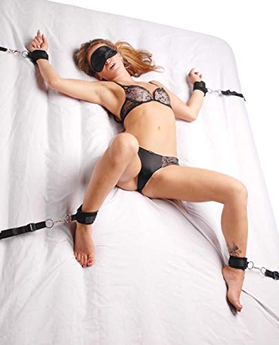 Rricoco The Under The Bed System Wih 4 Cuffs and Bondage Straps, Portable and Travel-sized, Fits Most Standard Size Mattresses by Rricoco