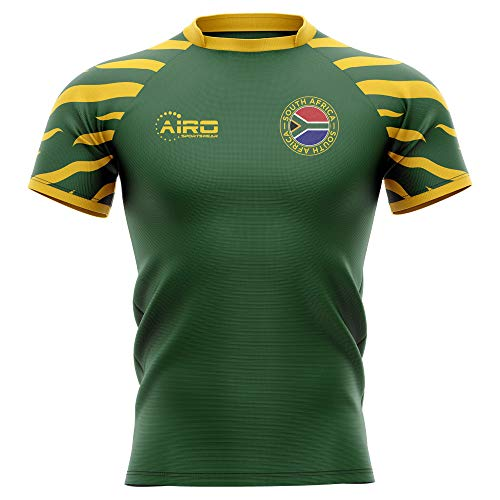 (Airosportswear 2019-2020 South Africa Springboks Home Concept Rugby Football Soccer T-Shirt Jersey - Womens )