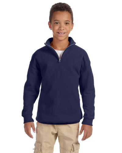 Jerzees Nublend Youth Quarter-Zip Cadet Collar Sweatshirt
