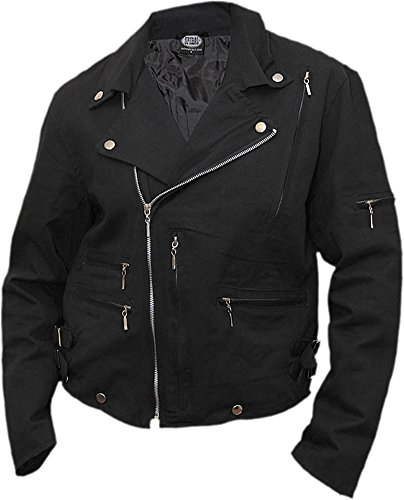 Denim Biker Jacket (Spiral Mens - Rock Eternal - Lined Biker Jacket Black - XXL)