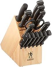 HENCKELS Fine Edge Pro Knife Block Set, 15-pc, Light Brown