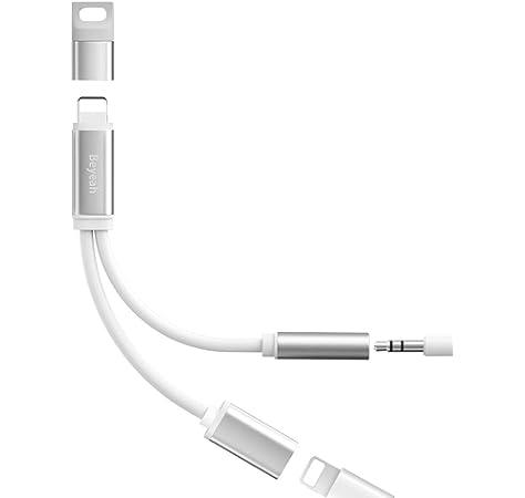 Adaptador de Auriculares 3 en 1 para iPhone con Carga Conector de Audio para Auriculares Compatible con iOS 13 Accesorios compatibles con iPhone 11//11Pro//X//XR XS//MAX 8//7//6//Plus iPad iPod