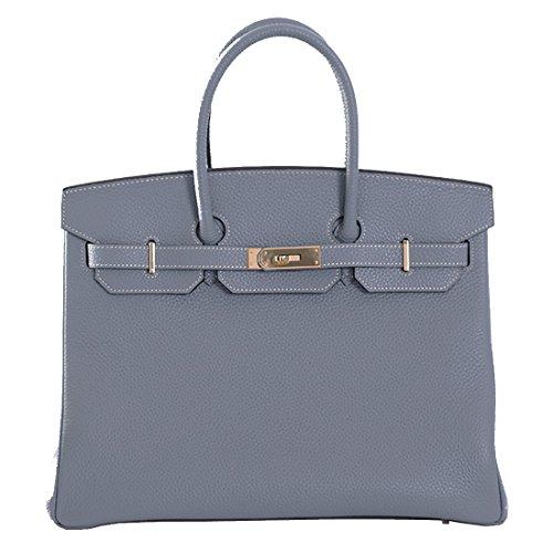 light blue leather handbags - 1