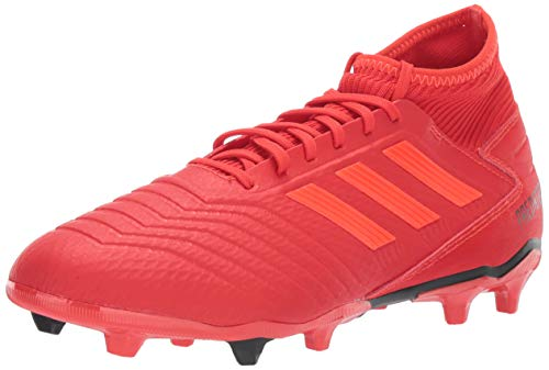 adidas Men's Predator 19.3 Firm Ground, Active Solar red/Black, 8 M US