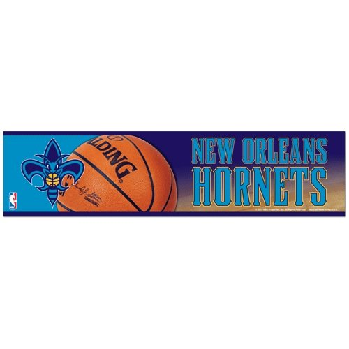 NBA Basketball New Orleans Hornets Bumper Sticker (2-Pack)