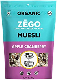 product image for ZEGO Foods Organic Superfood Oatmeal & Muesli, Certified Gluten Free (Apple Cranberry) 13oz