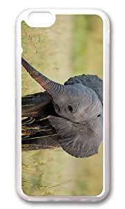 MOKSHOP Adorable Baby Elephant Soft Case Protective Shell Cell Phone Cover For Apple Iphone 6 (4.7 Inch) - TPU Transparent