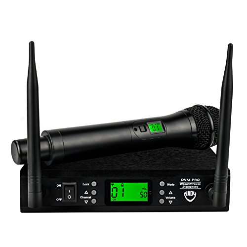 Nady DVM-PRO Digital 100-Channel 2.4GHz Professional Dual Band Reception Wireless Handheld Microphone - Live Stage Performance by Nady