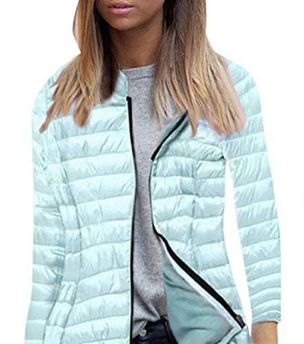 Sky Warm Quilted Blue Jacket Winter Women Relaxed Hooded Fit Howme Full Zip nSa7RvZnwq