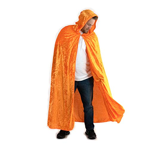 Everfan Orange Hooded Cape | Cloak with Hood for Halloween, Cosplay, Costume, Dress Up]()