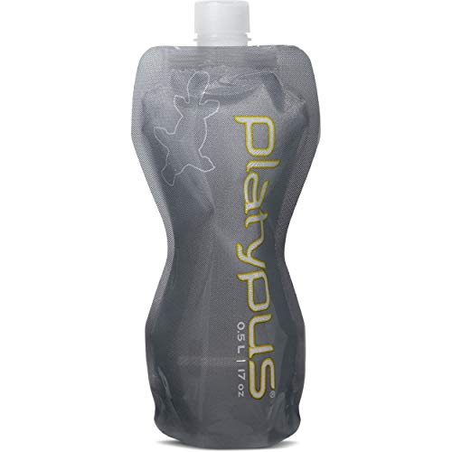 Platypus Ultralight Collapsible SoftBottle with Closure Cap, Gray, 0.5-Liter