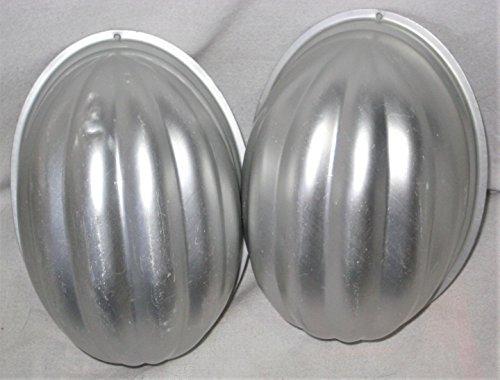Vintage Wear-Ever Aluminum Egg Shaped Jell-O Pudding Mold Cake Baking Pan USA, 7 x 5 x 4 Inch, Set of 2