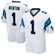 Mens Cam Newton #1 Football Jersey Game Jersey Black