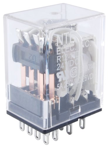 (NTE Electronics R14-11A10-24 Series R14 General Purpose AC Relay, DPDT Contact Arrangement, 10 Amp, 24 VAC)