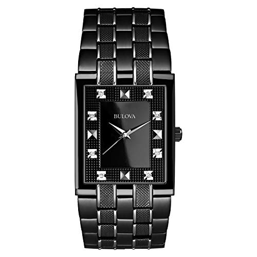 Bulova Diamond Black Dial - Bulova Men's 98D111 Bracelet Black Dial Watch