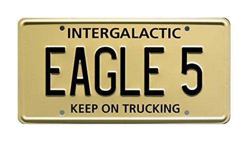 Spaceballs / Mel Brooks / Winnebago / EAGLE 5 *METAL STAMPED* Vanity Prop License Plate