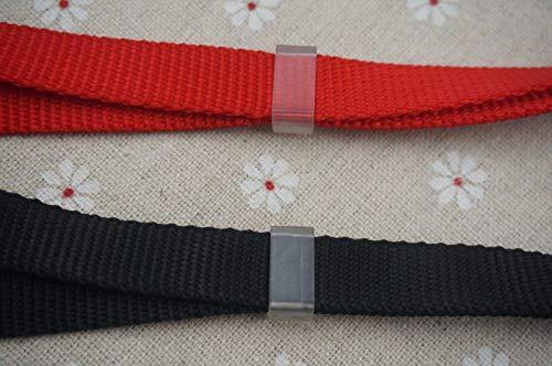 FidgetFidget 50-1/2'' (12.7mm) Clear Plastic Webbing Keepers, Work with 1/2'' Webbing