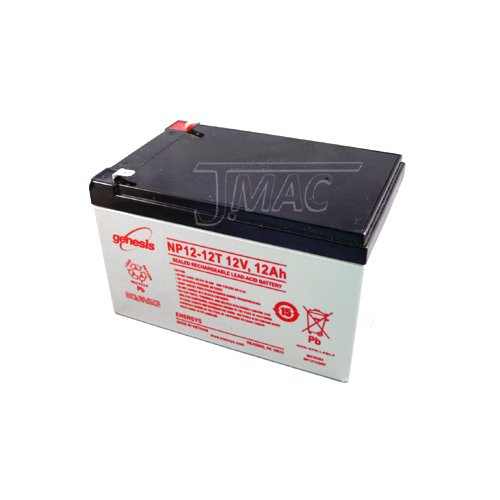 Enersys Genesis Np12 12T   12 Volt 12 Amp Hour Sealed Lead Acid Battery With 0 250 Fast On Connector