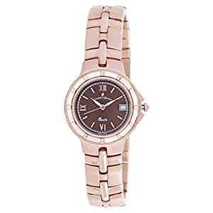 Jacques Du Manoir Women's Black Dial Stainless Steel Band Casual Watch - 2516L