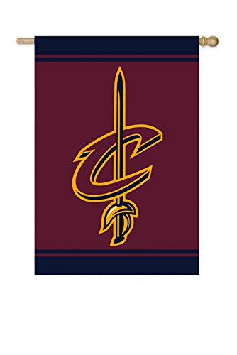 """NBA Licensed Outdoor Decorative Embroidered 28"""" x 44"""" House Flag (Cleveland Cavaliers)"""