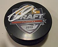 Thomas Chabot Signed 2015 NHL Draft Hockey Puck w/COA Ottawa Senators
