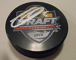 Thomas Chabot Signed 2015 NHL Draft Hockey Puck w/COA Ottawa Senators