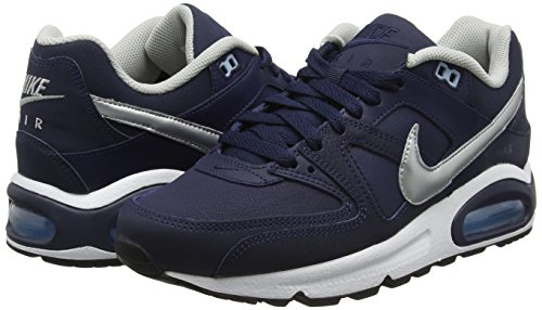 White Bluecap Max Leather NIKE Air Running Metallic 401 Command Blu Uomo Silver Scarpe Obsidian fwP75Prq