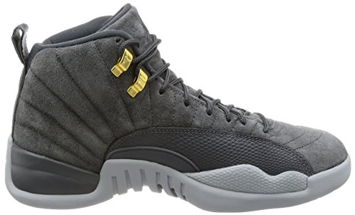 836e6065766b88 Jordan Air 12 Retro Mens Shoes Dark Grey Dark Grey Wolf Grey 130690-
