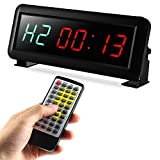 ZBW Fitness Training Timer Remote Control Gym Indoor Interval Timer Clock LED