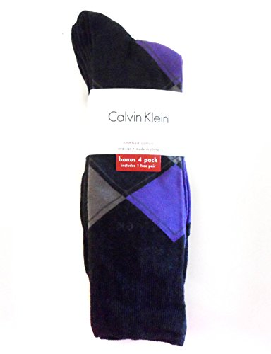 Calvin Klein Argyle Crew Dress Socks 4-Pack,